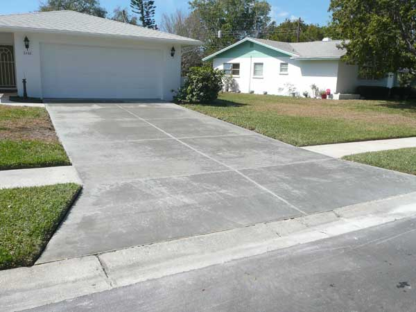 Sarasota concrete services matt yoder concrete new for New concrete driveway